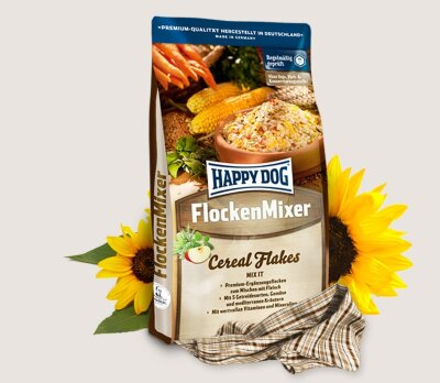 Happy Dog Flakes Flocken Mixer хлопья для собак