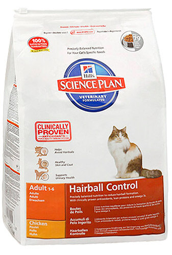 Hill's корм для кошек Science Plan Hairball Control Adult with Chicken