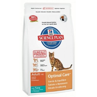 Hill's корм для кошек Science Plan Optimal Care Adult with Tuna