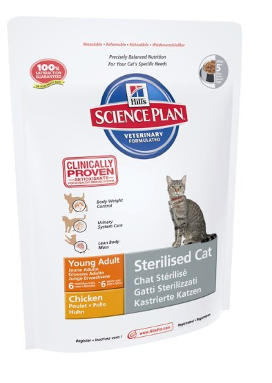 Hill's корм для кошек Science Plan Sterilised Cat Young Adult with Chicken