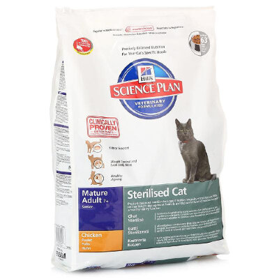 Hill's корм для кошек Science Plan Sterilised Cat Mature Adult 7+ with Chicken