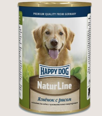 Happy Dog консервы для собак Natur Line Ягненок с рисом