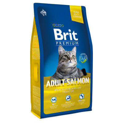 Brit Premium Cat Adult Salmon New для кошек с лососем в соусе