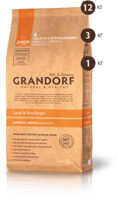 Grandorf корм для собак Lamb&Rice Junior