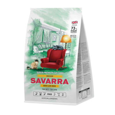 Savarra Indoor Cat корм для домашних кошек Утка с рисом