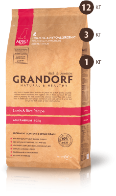 Grandorf корм для собак Lamb&Rice Medium