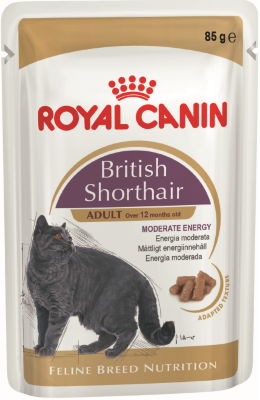 RoyalCanin пауч для кошек British Shorthair Adult (в соусе)