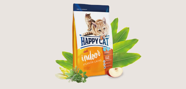 Happy Cat Indoor Atlantic Salmon корм для домашних кошек Атлантический лосось