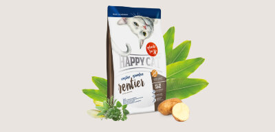 Happy Cat Grainfree Rendeer корм для кошек беззерновой гипоаллергенный Оленина